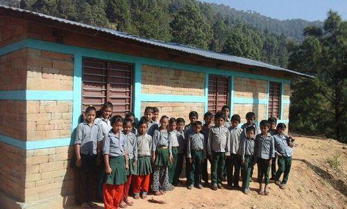 ネパール地震で全壊した学校の校舎1棟が再建されました!